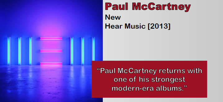 Paul McCartney: New [Album Review]
