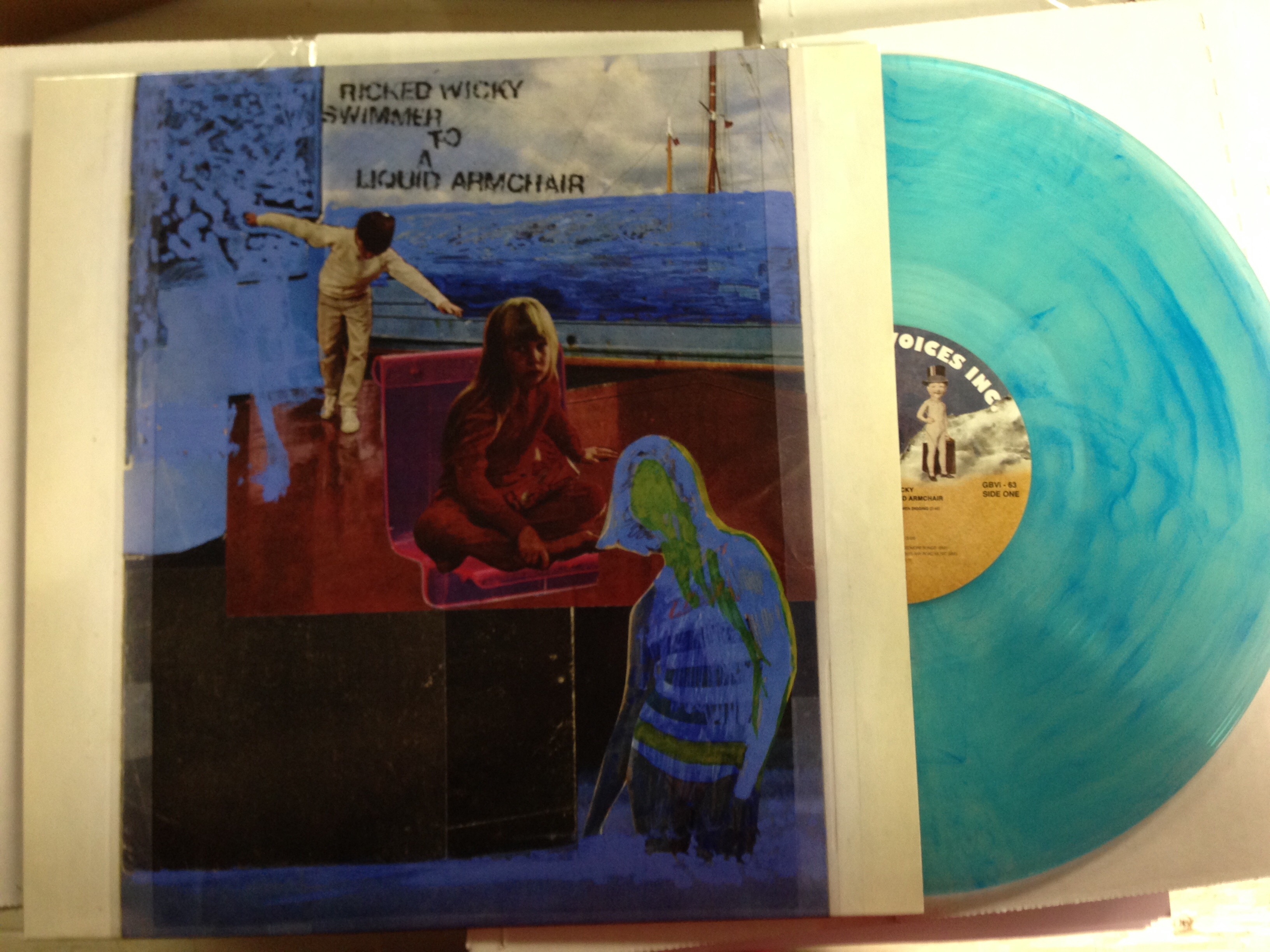 Ricked Wicky (Robert Pollard) 3rd LP on Limited Coke Clear w/ Opaque Blue